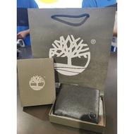 Original Timberland Men Wallet with Timberland Box and Timberland Paperbag