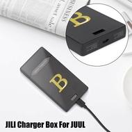 Mini JILI Charger Box Portable P**er B**k Case and Pod Holder For JUUL Black