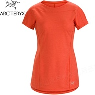 Arcteryx 始祖鳥 Taema 透氣快乾短袖圓領排汗衣/排汗T恤 18909 女款 珊瑚紅