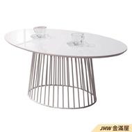 茶几桌 客廳桌  北歐桌子 白色茶几 鐵腳茶几 圓形茶几 大茶几 造型茶几 邊几 客廳桌子-B300-02