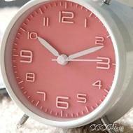 鬧鐘 超大聲音可愛金屬小鬧鐘創意靜音夜燈兒童數字學生用床頭鐘錶簡約  雙11購物免運