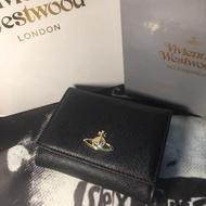 預購 Vivienne Westwood 薇薇安魏斯伍德 十字紋牛皮 短夾 皮夾 可放照片 土星錢包