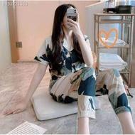 OKJU09.15☬◘NEW pajama Sleepwar Sleepwear terno pajama sleepwear pajama set for women's /cotton