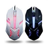 S1電競專用滑鼠 炫光滑鼠 LED七彩背光燈 4段DPI調整 遊戲 USB滑鼠 有線滑鼠 家用電腦滑鼠