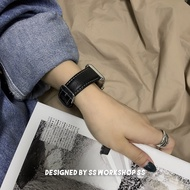 Original Iwatch สายคล้องคอหนัง Litchi Grain สำหรับคืนวิธีโบราณ Apple Applewatch6รุ่น Se โลโก้ยอดนิยม5บุคลิกภาพผู้ชายและผู้หญิง