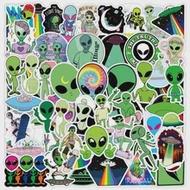 10/30/50 PCS อะนิเมะ ET Graffiti สติกเกอร์คนต่างด้าว UFO สำหรับเด็กกระเป๋าเดินทางกระเป๋าเดินทางแล็ปท็อปรถจ...