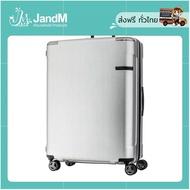 JandM กระเป๋าเดินทางล้อลาก นวัตกรรมล้อ ลดการสั่นสะเทือน รุ่น EVOA ขนาด 28 นิ้ว Hardside Spinner 75/28 TSA LOCK สี Brushed Sliver ส่งkerry