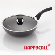 【韓國HAPPYCALL】鈦電漿IH頂級30cm深炒鍋+30cm鍋蓋組(電磁爐適用不沾鍋)