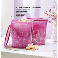 July Giant Canister Flower Tupperware - Toples Tupperware - Toples Kerupuk Tupperware