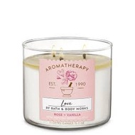 bath and body works candle bath and body works Bath And Body Works Rose Vanilla 3-Wick Candle