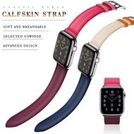 Genuine leather loop strap for apple watch band 42mm 44mm apple watch 4 5 38mm 40mm i watch 3/2/1 correa replacement bracelet