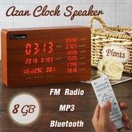 Azan Clock Speaker Azan Clock Quran Payer MPS Bluetooth 8GB TF Card Household