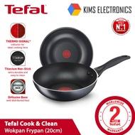 Cook & Clean Tefal 20cm / 24cm / 26cm / 28cm / 30cm Wokpan Frypan Cookware Shield Wok Pan Wok