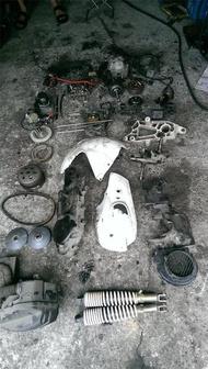 達成拍賣 戰將 Fighter 悍將 150 引擎零件汽缸 缸頭 凸輪軸 曲軸 電盤ks 傳動 化油器傳動蓋 齒輪箱