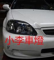 ~李A車燈~全新品 外銷 喜美 CIVIC K8 96 00年 改裝型燻黑大燈組 一組1800 台灣製品