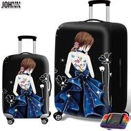 Johnn【High 】 18/26/32 นิ้วน่ารัก 3D ผ้าคลุมกระเป๋าเดินทางผ้าคลุมกระเป๋าเดินทาง
