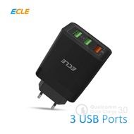 ECLE Head 3 Ports Quick Charge 3.0 Charger