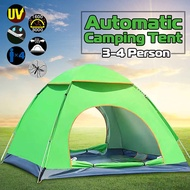 Outdoor Camping Tent 3-4 Person Automatic Instant Up Tent Family Waterproof Ultralight Easy Open Camp Hiking Tents Sun S