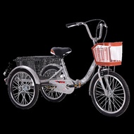 Elderly tricycle rickshaw elderly walk-in double-person car foot bus adult tricycle pick-up and drop