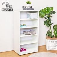 【南亞塑鋼】1.6尺開放式五格收納櫃/置物櫃/鞋櫃(白色)
