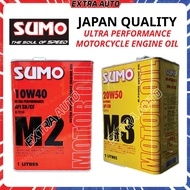 SUMO Ultra Performance Motorcycle Engine Oil 4.0L Japan Quality M2 10W40 API SN/CF M3 20W50 API SM / Minyak Hitam