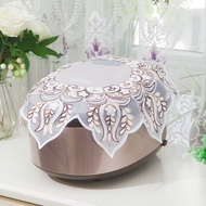 Round rice cooker cover dust cover rice cooker cover towel pastoral lace protective cover household pressure cooker dust