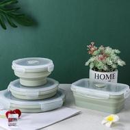 矽膠飯盒戶外折疊碗微波爐便當盒保鮮盒便攜餐盒伸縮碗泡面碗旅行 概念3C