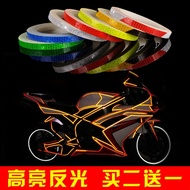 Bicycle Reflective Stickers Bike Luminous Reflective Strips Fluorescent Stickers