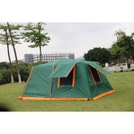2020年最新 駱駝 鋁合金 液壓式自動桿大帳篷 4.3x3米 8~10人 自動帳篷速搭 全包覆塗銀格子布 2房1廳帳篷