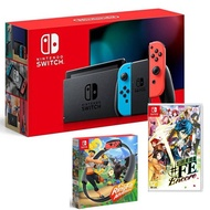 【預購】Nintendo Switch 主機 電光紅藍 (電池加強版)+幻影異聞錄 中文版+健身環大冒險 同捆組【再送三禮】 特殊色/不區分