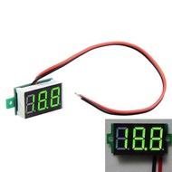 兩線直流電壓表小型數字電壓表頭LED數顯表可調