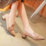 ✨✨รองเท้าคัชชู รองเท้าส้นสูงกำมะหยี่ รองเท้าแฟชั่น✨✨