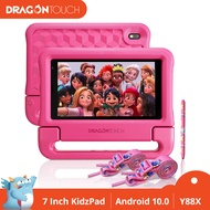 Dragon Touch KidzPad Y88X 10 Kids Tablets - Installed Audio Books, 2GB RAM 32GB ROM, Quad-Core Processor, 10.1 IPS HD Display, Micro HDMI, for Android 9.0 Pie, 5G WiFi, HDMI Port, Straps and Stylus dragon touch