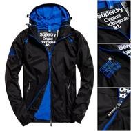 跩狗嚴選 正品 極度乾燥 Superdry Cagoule 薄夾克 網眼內襯 連帽 風衣 外套 黑 藍