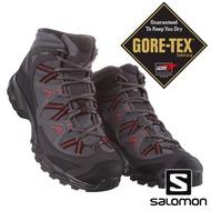 【SALOMON 法國】男 BEKKEN MID GTX中筒登山鞋『磁灰/幻灰/赭石紅』406157