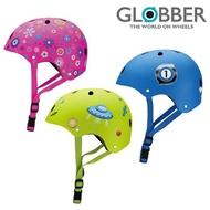 法國Globber哥輪步 兒童戶外活動防護安全帽(繽粉桃/賽車藍/火箭綠)(滑步車 直排輪 滑板車 童車)