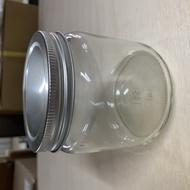 【嚴選SHOP】台灣製造 附蓋 500cc銀蓋寬口圓罐 收納罐 果醬瓶 醬菜瓶 玻璃瓶 玻璃罐 儲物罐 罐子【T047】