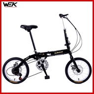 Sanhm 16inch Foldable Bicycle Children's Folding Bicycle Adult Foldable Bike Variable Speed Road Bike Mountain Bike
