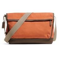 Coach แท้ กระเป๋าสะพาย ผ้าแคนวาส ฐานหนัง Coach Men Camden Canvas Zip Top Crossbody Bag