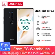 Global Rom Oneplus 8 Pro 6.78 ''5G Android 10 Snapdragon 865 8GB/12GB 128GB/256GB 19.8:9 สมาร์ทโฟน 4510MAh 48MP NFCMobileโทรศัพท์