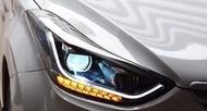 ~李A車燈~全新品 現代 ELANTRA 12-16年 下R8 光柱款 流水方向燈 大燈 (14年後需加構線組)