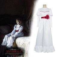 安娜貝爾恐怖娃娃cosplay服裝 萬聖節鬼片安娜貝爾娃娃cos服裝