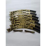 20 Inch Width 2cm Gold Color Folding Bike Rim Wheel Decal Sticker