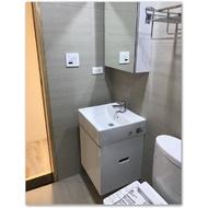 TOTO組合馬桶CW260.+TC301+臉盆L710+ 專用防水浴櫃(衛生紙孔) +無鉛龍頭TLS03301PA