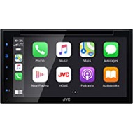 """JVC KW-V660BT Bluetooth Car Stereo Receiver with USB Port - 6.8"""" LCD Touchscreen Display - AM/FM Radio - MP3, CD and DVD Player - Double DIN – SiriusXM - with Apple CarPlay and Android Auto (Black)"""