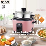 Iona 1L Rice Cooker With Stainless Steel Steamer I GLRC10 I Automatic Keep Warm I 1 Year Warranty