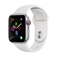 Apple Watch Series 4 GPSCellular 44mm, Stainless Steel Case, White Sport Band