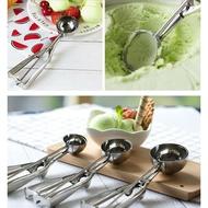 【嚴選SHOP】大中小號不銹鋼冰淇淋勺 有彈簧 挖球器 挖球勺 水果挖勺 雪糕勺 西瓜勺 把餔勺 冰淇淋湯匙【K116】