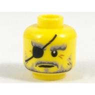 【LEGO 大補帖】黃色 Hutchins臉【6218536/37553/3626cpb2048/70643】MD-24