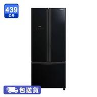 HITACHI RWB560P9H 日立黑影玻璃439公升多門雪櫃 5年保養,變頻式壓縮機,節能溫度感應系統,雙重冷凍風扇,觸控式操作面板